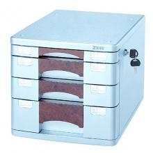 钊盛(ZSSI)ZS-PK2804 四层带锁 桃木银色文件柜/桌面文件柜/抽屉文件柜
