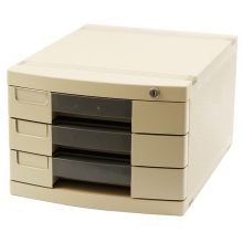 钊盛(ZSSI)ZS-3813 三层带锁 桌面文件柜/抽屉文件柜