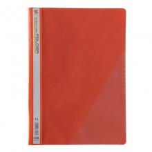 钊盛(ZSSI)ZS-306 简易二孔装订报告夹/透明封面文件夹 12个/包 红色