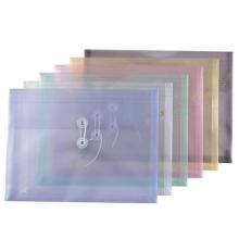 钊盛(ZSSI)ZS-116A 绳扣档案袋/缠绳文件袋 A4 横式 透明白 12个装