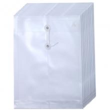 钊盛(ZSSI)ZS-118 绳扣档案袋/缠绳文件袋 A4 竖式 透明白色 12个装