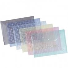 钊盛(ZSSI)ZS-209 14C 透明按扣文件袋/钮扣袋 A4 颜色随机 12个装