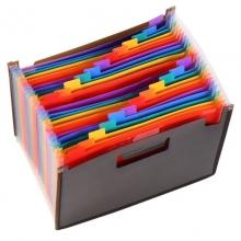 华富鹰(HFYP)H58 分类风琴包/24层多层分类文件包/事务包 A4 24层 32*23.5cm 黑色