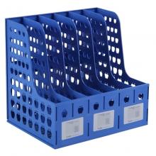 钊盛(ZSSI)ZS-886 六联资料架/文件栏/杂志架/文件框 A4 蓝色
