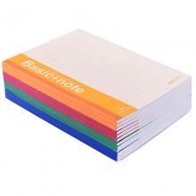 得力(deli)7651 无线装订软抄本/记事本/笔记本 A5-40页 混色 12本装