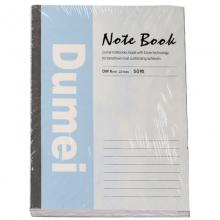 渡美(Dumei)3043 无线装订笔记本/胶装本/记事本 B5-60页 4本装