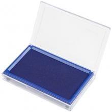 齐心(Comix)B3720 长方形透明壳快干印台 135*85mm 蓝色