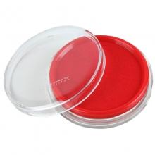 齐心(Comix)B3716 圆形透明壳快干印台 80mm 红色