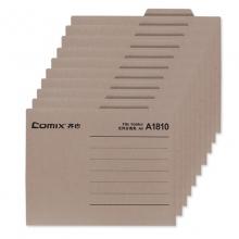 齐心(Comix)A1810 纸质文件夹/分类夹/分类卡/纸夹/单片夹横式二页夹 A4 灰色 十个装