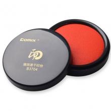 齐心(Comix)B3704 圆形强效速干印台 68mm 红色