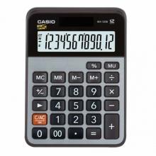 卡西欧(CASIO)MX-120B 商务计算器 小型机 12位 金属面板/灰色(MX-120S升级款)