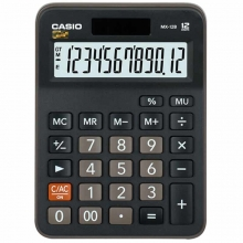 卡西欧(CASIO)MX-12B 商务计算器 小型机 12位 塑料面板/黑色(MX-12S升级款)
