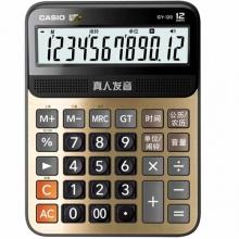 卡西欧(CASIO)GY-120 真人语音计算器 大型机 12位 金色