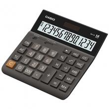 卡西欧(CASIO)DH-14-WE 超宽中型计算器/专业计算器 14位 黑色