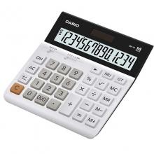 卡西欧(CASIO)DH-14-WE 超宽中型计算器/专业计算器 14位 白色