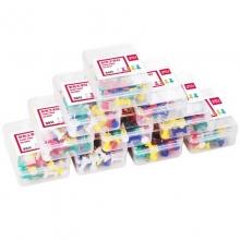得力(deli)0021 彩色工字钉/软木板钉 35枚/盒 10盒装