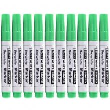 白雪(snowhite)WB-558 圆头白板笔/可擦笔 10支/盒 绿色