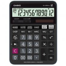 卡西欧(CASIO)DJ-120D Plus 办公百步回查/300步回查/多功能计算器 12位 黑色