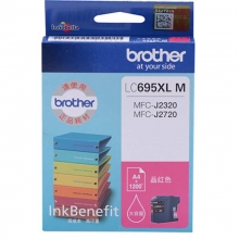 兄弟(brother)LC695XL M 品红色墨盒(适用于兄弟MFC-J2720 MFC-J2320)