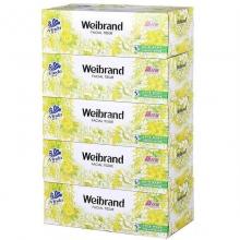 维达(Vinda)威牌V2002 纸盒装面巾纸/抽纸 100抽*5盒/提