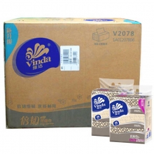 维达(Vinda)V2078 倍韧面巾纸/软包装抽纸 二层200抽*3包*16提/箱