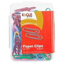 益而高(Eagle)EG-9DS 挂式PP盒装彩色回形针/曲别针 28MM 100粒/盒 10盒装