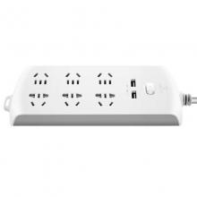 公牛(BULL)GN-B206U 新国标带USB插座/插线板/接线板 6位总控 3米