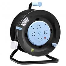 公牛(BULL)GN-804D 30米 2.5平方 过热保护16A大功率电缆卷盘插座/卷线盘/工程线盘 4位总控