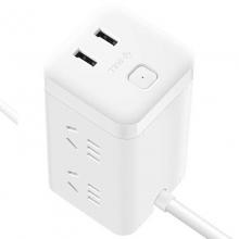 公牛(BULL)GN-UU2126 大魔方智能USB插座/插线板/接线板 USB接口2个+插孔6个 3米