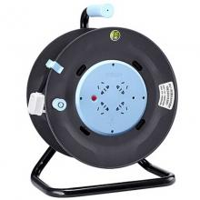 公牛(BULL)GN-804 工程接线盘/新升级过热保护电缆卷盘插座 4位无控 50米