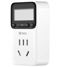 公牛(BULL)GND-1 新国标电子定时器/20组定时器插座/转换器 7x24小时循环 10A