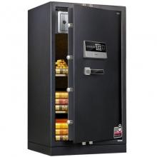 得力(deli)4075 生物指纹识别保管箱全钢指纹双保险保险柜 电子密码保管柜 高100cm 带底轮