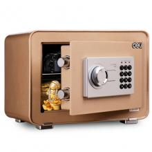得力(deli)4082 全钢防盗电子密码保险箱 办公保管箱入墙床头款 高35CM 金色