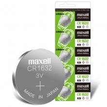 麦克赛尔(Maxell)CR1632 纽扣电池 3V万胜电池 5粒装