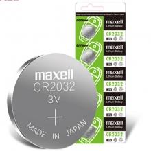 麦克赛尔(Maxell)CR2032 纽扣电池 3V万胜电池 5粒装