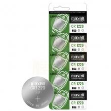 麦克赛尔(Maxell)CR1220 纽扣电池 3V万胜电池 5粒装