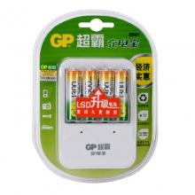 超霸(GP)5号1300mAh4粒+充电器 充电套装 可充5号7号