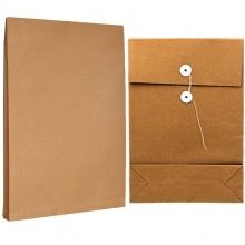 永硕(UOSO)200克 8cm A3牛皮纸档案袋资料袋绕绳袋(空白版)10只装