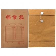 永硕(UOSO)A4-200克 底宽5cm 牛皮纸档案袋 牛皮纸资料袋绕绳袋(红字带框)25只/捆