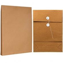 永硕(UOSO)200克 10cm B4牛皮纸档案袋资料袋绕绳袋(空白版)10只装