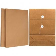 永硕(UOSO)200克 10cm A4牛皮纸档案袋资料袋绕绳袋(空白版)25只装