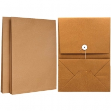 永硕(UOSO)200克 15cm A4牛皮纸档案袋资料袋绕绳袋(空白版)25只装