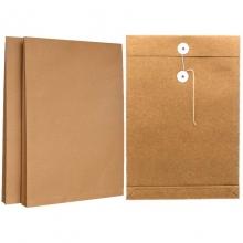 永硕(UOSO)200克 3cm A4牛皮纸档案袋资料袋绕绳袋(空白版)25只装