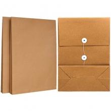永硕(UOSO)200克 12cm A4牛皮纸档案袋资料袋绕绳袋(空白版)25只装