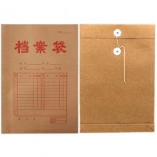永硕(UOSO)A4-200克 底宽3cm 牛皮纸档案袋 牛皮纸资料袋绕绳袋(红字带框)25只/捆