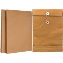 永硕(UOSO)200克 5cm A4牛皮纸档案袋资料袋绕绳袋(空白版)25只装