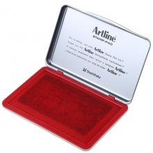 旗牌(Artline)EHJ-4 水性印台印泥 143*87mm 特大号 红色