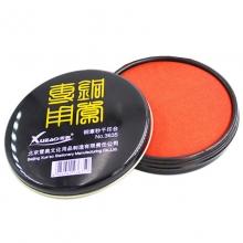 雪奥(XUEAO)3635 铜章秒干印台/铁盒圆形印泥 105mm 红色